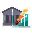 bank chart arrow vector image