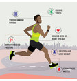 benefits jogging- fitness sport and healthcare vector image vector image