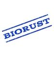 Biorust Watermark Stamp vector image