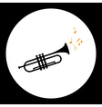black isolated trumpet or tube musical instrument vector image vector image