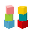 bright colorful toy bricks building towers vector image