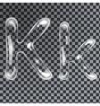 Bubbles letters K vector image vector image