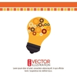 bulb light design vector image vector image