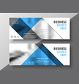 business blue flyer banner template design vector image vector image