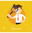 Business concept tool for business analytics vector image vector image
