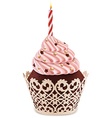cake candle vector image