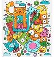 Cat doodle vector image vector image
