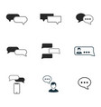 chat icon set line style icon design ui vector image