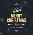 christmas card with pattern dark background vector image vector image