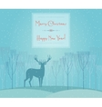 christmas deer merry and happy new year vector image
