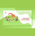 city zoo landing page vector image