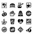 Coffe icon set vector image vector image