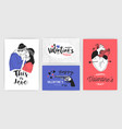 collection of valentine s day greeting card party vector image vector image
