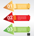 Colorful origami banner template EPS10 vector image vector image