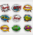 comic speech bubbles on transparent background vector image vector image