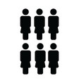 company icon female group of people symbol avatar vector image