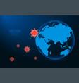 coronavirus 2019-ncov concept virus attack vector image vector image