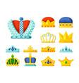 crowns luxury monarch symbols power golden vector image vector image