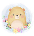 cute little bear vector image