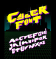 cyber style font alphabet vector image vector image