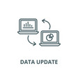 Data update line icon linear concept