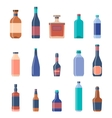Different bottles collections Beer vintage vector image vector image