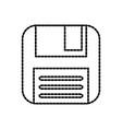 diskette backup storage information plastic vector image