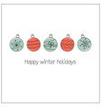 Doodle Christmas balls vector image vector image