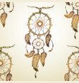 dream catcher seamless pattern vector image