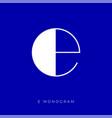 e monogram letter logo vector image