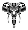 elephant with tusk with doodle entangle vector image
