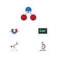 flat icon study set of theory of relativity scope vector image