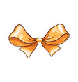golden bow hand drawn isolated vector image vector image