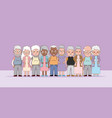 group of grandparents cartoons vector image