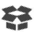 halftone dot open box icon vector image vector image