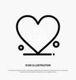 heart love american usa line icon vector image vector image