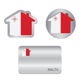 Home icon on the Malta flag vector image vector image
