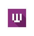letter w logo design vector image vector image
