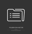 Line icon folder vector image vector image
