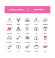 line icons set wedding vector image vector image