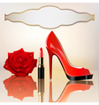 Lipstick rose background vector | Price: 1 Credit (USD $1)