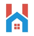 Logo combination of H letter and house vector image vector image