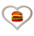 love burgers vector image