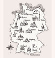map germany old school style vintage retro vector image