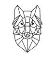 modern geometry wolf design tattoo image vector image
