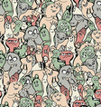 Monsters seamless background vector image vector image