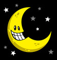 moon smiling cartoon vector image vector image