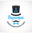 movember prostate cancer awareness month vector image vector image