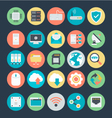Networking Colored Icons 1 vector image vector image