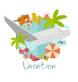 on vacation in a flat minimalist style vector image vector image
